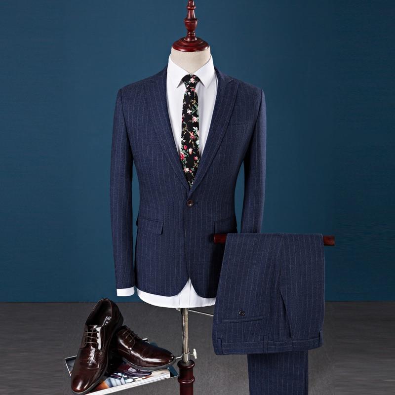 Trajes de hombre con pantalones a rayas, chaqueta de corte entallado para...