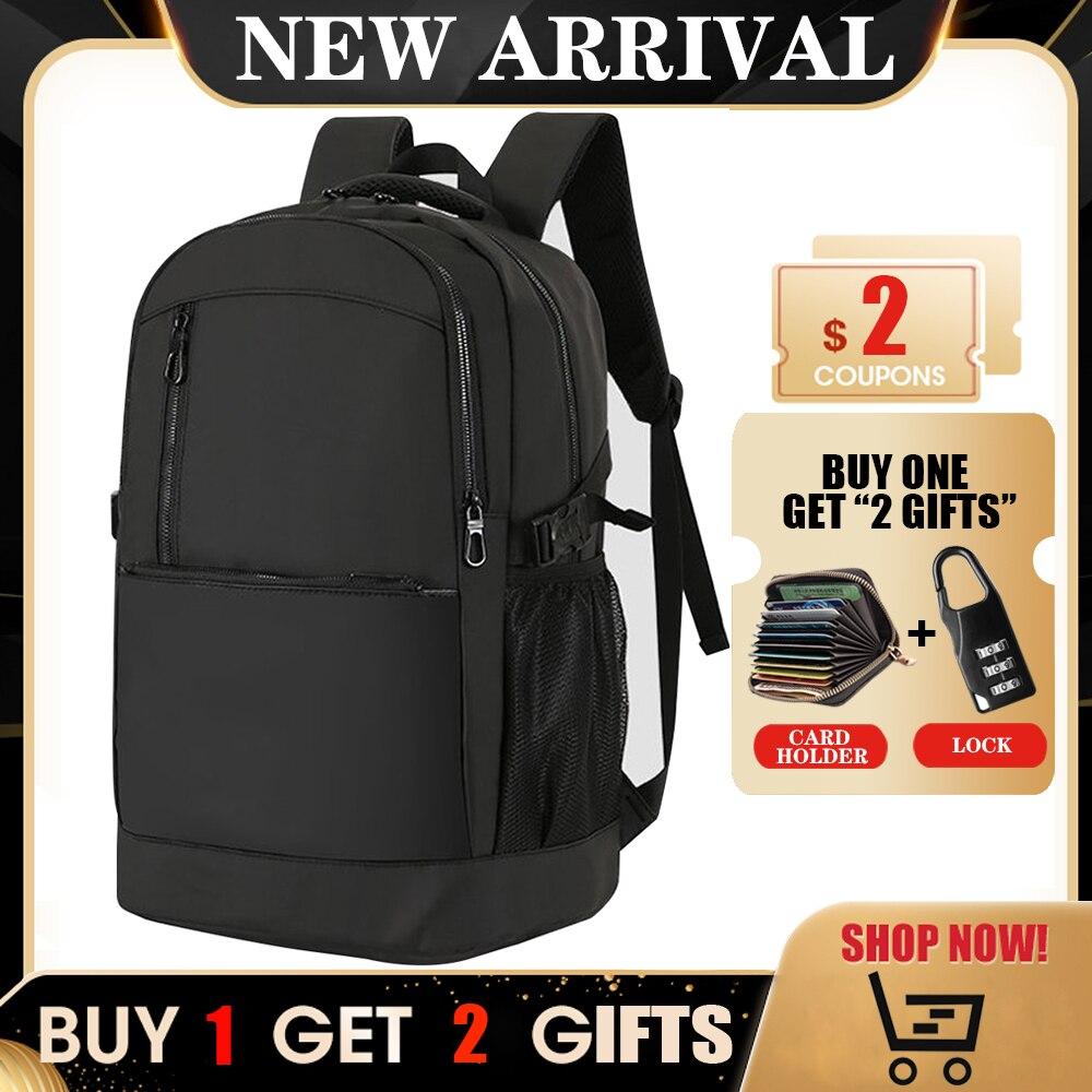 Большой многофункциональный мужской рюкзак для ноутбука 15,6 дюйма, Модный водонепроницаемый дорожный рюкзак, мужской рюкзак с защитой от но...