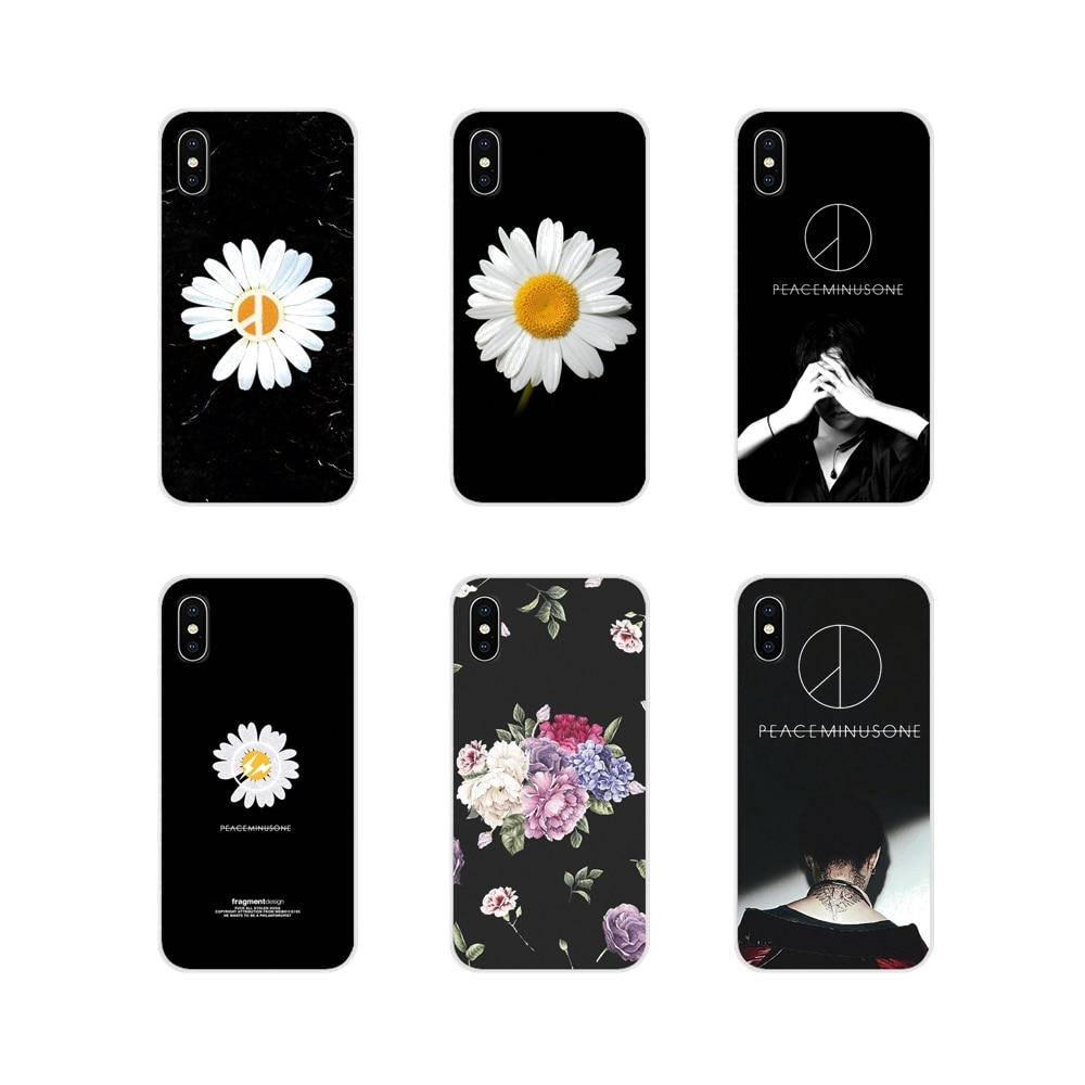 G dragon peaceminusone flower For Samsung A10 A30 A40 A50 A60 A70 M30 Galaxy Note 2 3 4 5 8 9 10 PLUS TPU Transparent Skin Cover