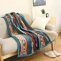 127x152cm portable winter warm cashmere blanket super soft flannel fleece sofa throw blanket for couch car travel cover blankets