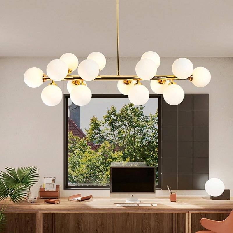 NordicModern золото светодиодный люстры подвесной светильник светильники Декор дома гостиной Спальня Кухня подвесные люстры светильник Инж
