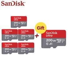 Carte Flash SanDisk 200GB carte mémoire 128GB C10 A1 U1 Micro SDXC carte SDHC 64GB carte TF haute 32GB 5 + 1