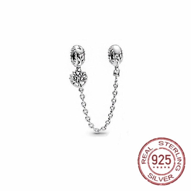 Горячая-925-стерлингового-серебра-безопасносные-браслеты-жизнь-tree'charm-бусины-соответственные-Пандоре-обаятельные-браслеты-ожерелье-Мода-с