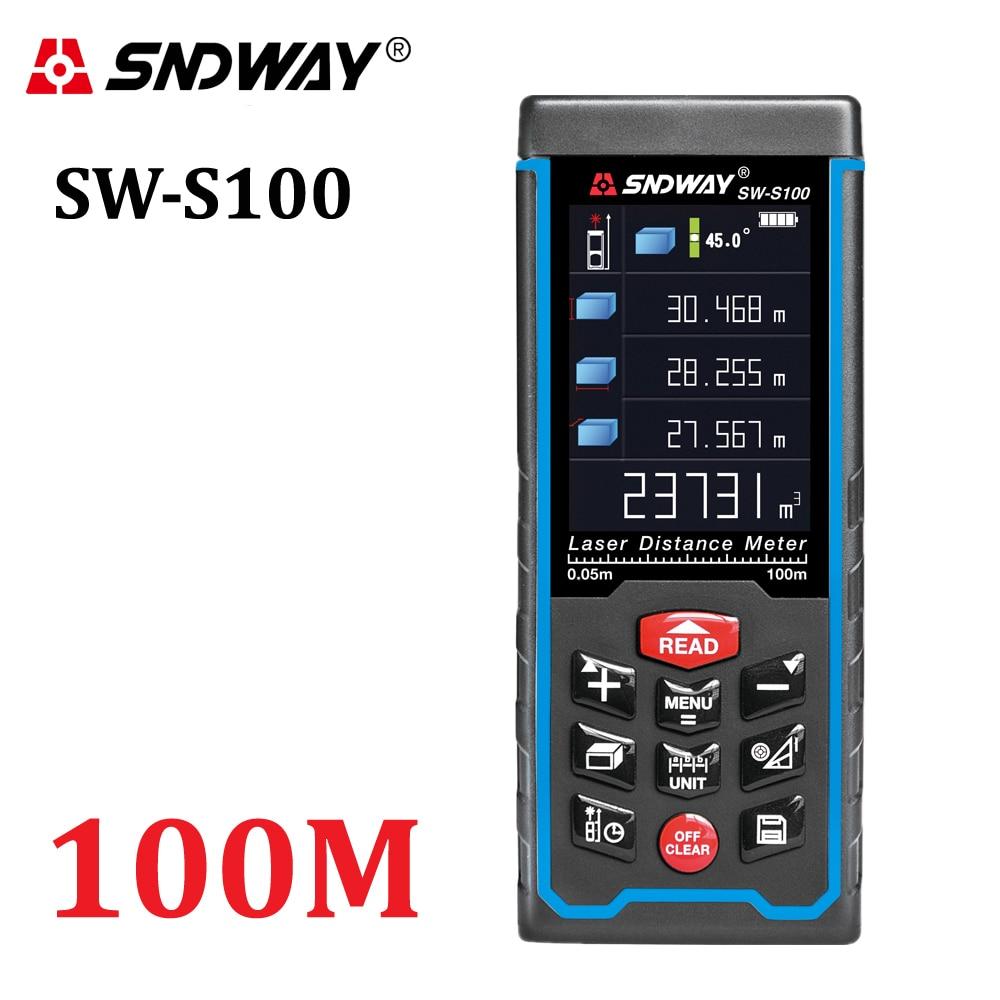 SNDWAY-telémetro láser Digital, pantalla a Color, recargable, 100M-70M-50M, Telémetro Láser, medidor de...