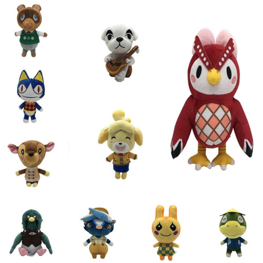 Bonito juguete de gato o perro mapache de Amiibo, juguete de 21cm con diseño de animales cruzados, muñeco de felpa, juguete de regalo para niños