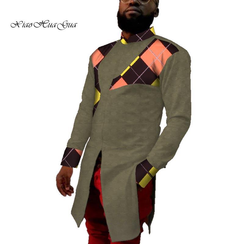 Новинка 2020, одежда с Африканским принтом, мужская рубашка в африканском стиле, повседневная мужская длинная рубашка для свадьбы, Дашики, муж...