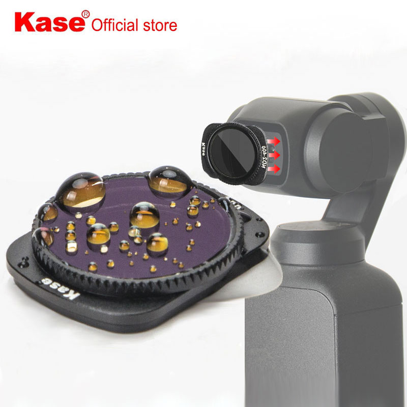 Kase المغناطيسي متغير الكثافة محايد تصفية ND2-400 ل DJI oomo جيب I / II يده كاميرا
