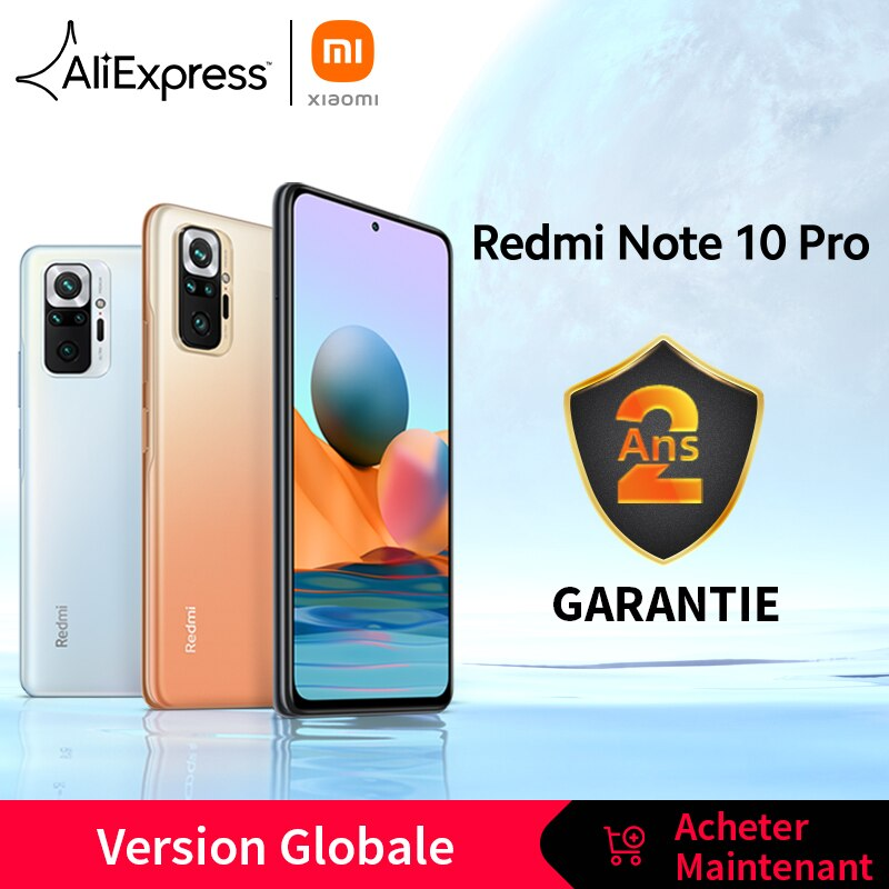 [World Premiere In Stock] Global Version Xiaomi Redmi Note 10 Pro Smartphone 108MP Camera Snapdragon 732G 120Hz AMOLED Display