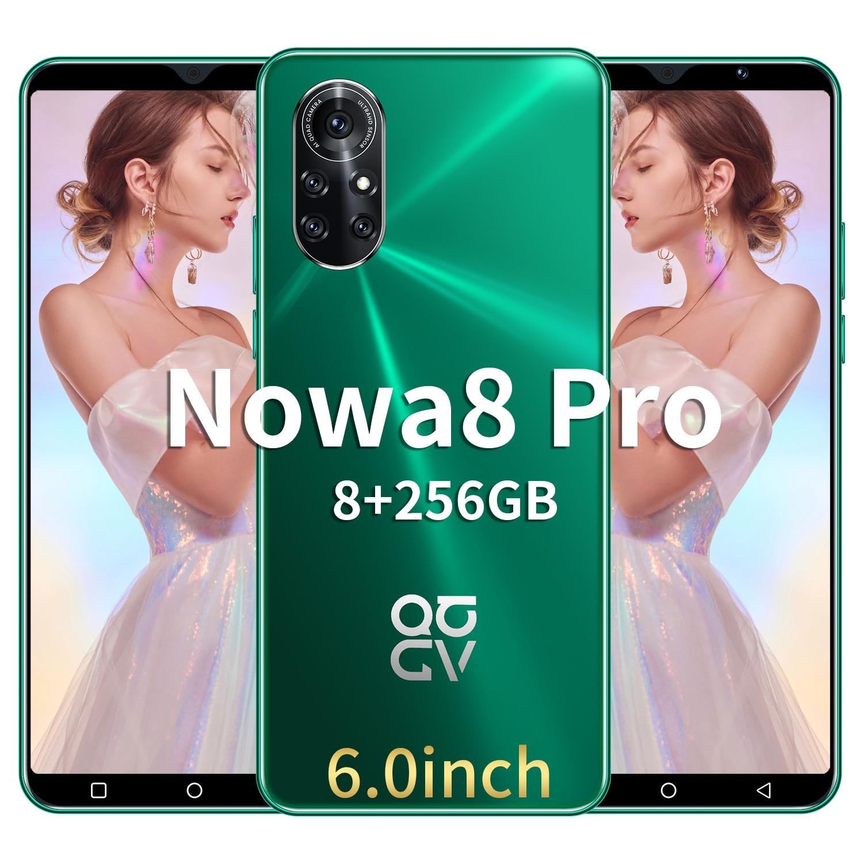 Global Version Nowa8 Pro 6.0 Inch  8GB RAM 256GB ROM 6800mAh Mobile Smartphones 16+32MP 10 Core 4G 5G MTK6889 Mobile Phone