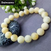 Breloque en pierre naturelle Beige blanc Chrysoprase Beckite jaspe perles Bracelets