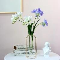 artificial green plants 2 fork snow orchids 64cm wedding background decoration wallvase flower arrangementartificial flowers