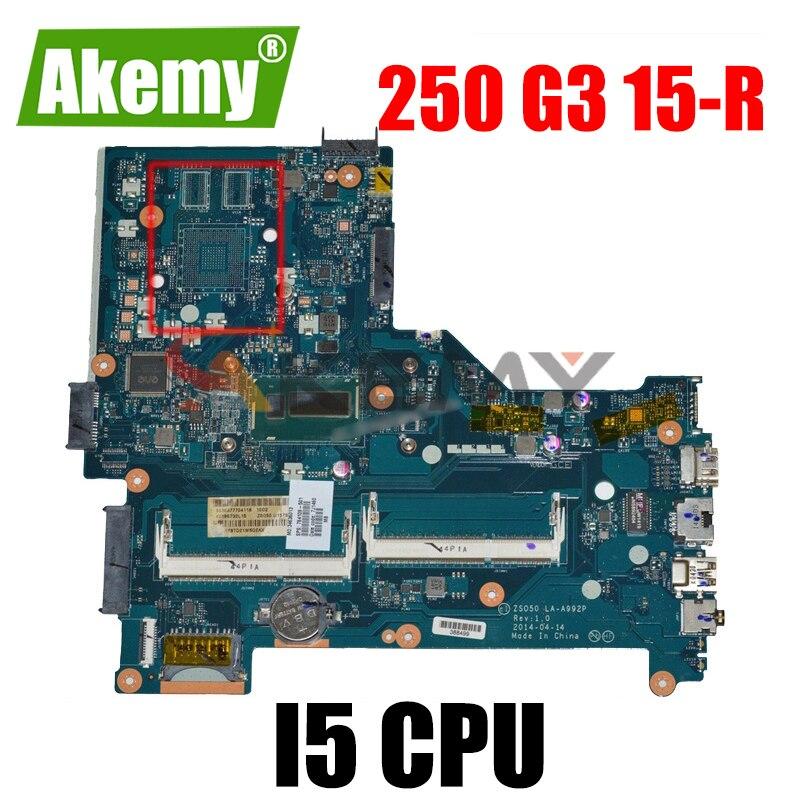 760968-601 760968-501 760968-001 لإتش بي 250 G3 15-R اللوحة المحمول LA-A992P LA-B972P MB مع i5 CPU DDR3L 100% اختبار بالكامل