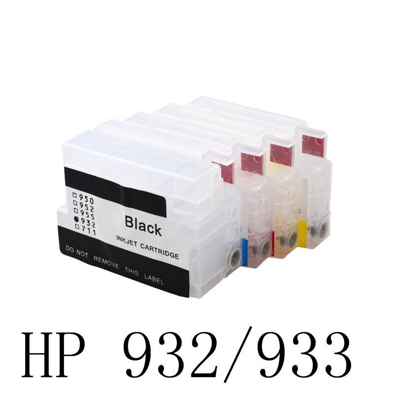 Aomya cartucho de tinta recarregável compatível para hp 932 933 932xl officejet 7110 7610 6600 6700 6100 7612 impressora com chip não oem