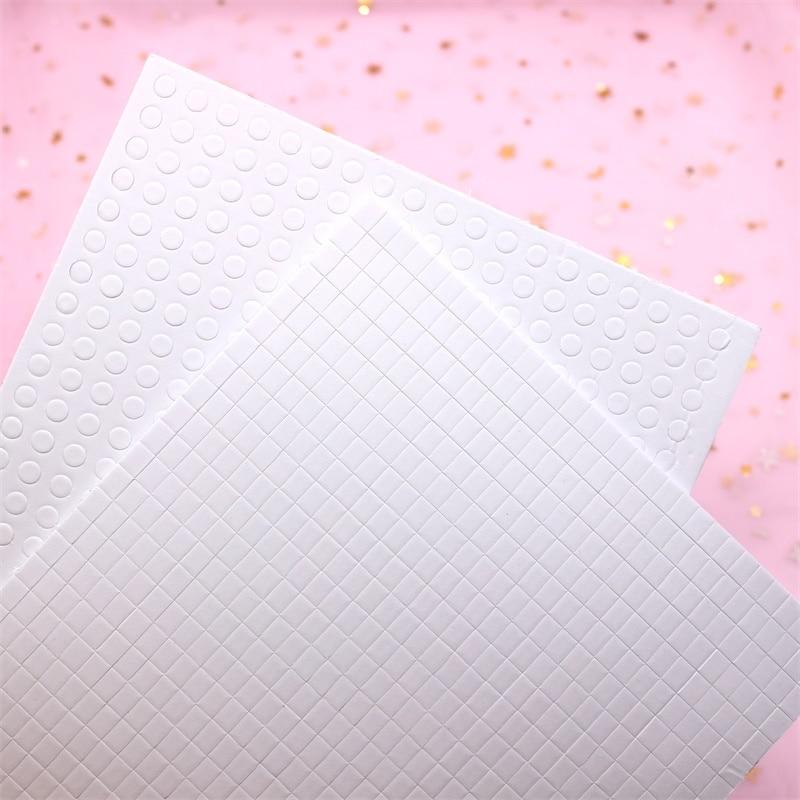 KSCRAFT 2mm de espesor espuma blanca pegamento puntos esponja de papel EVA para DIY Shaker Card Making arte de colección de recortes suministros