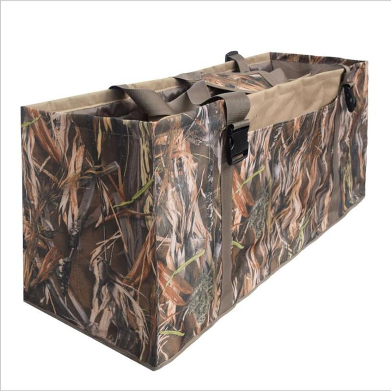 600D Nylon Slotted Decoy Bag with 12 Slot - Protect Decoys Camo for Outdoor Hunting Accessories Duck Decoy Bag