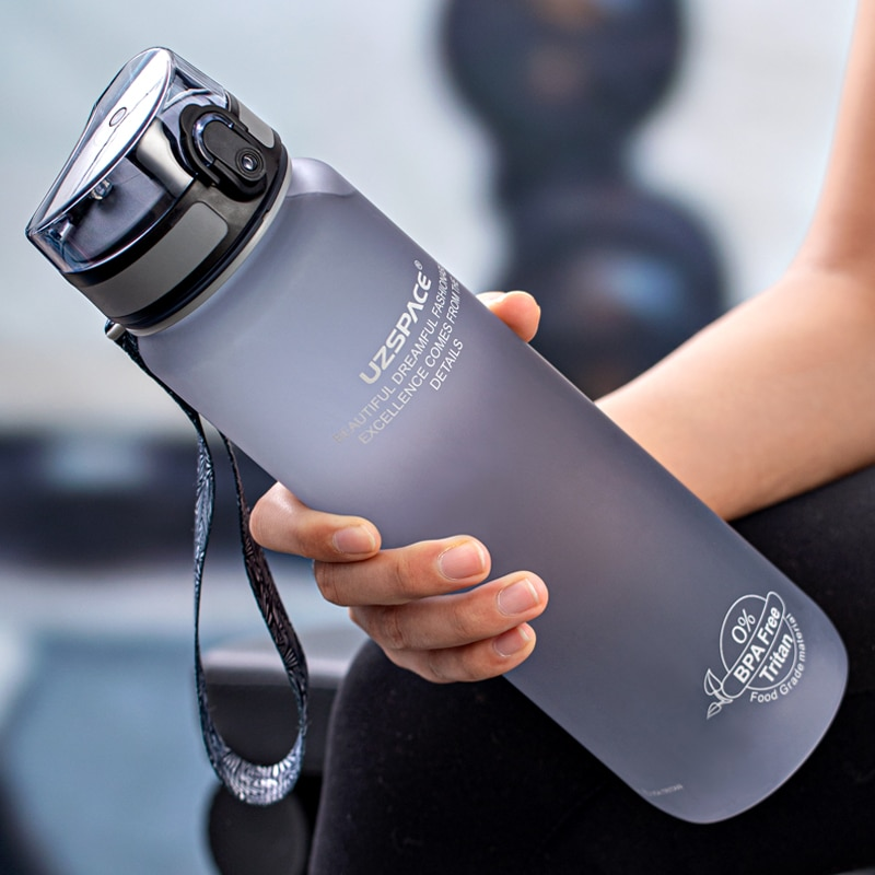 High Quality Water Bottle 500ML 1000ML BPA Free Leak Proof Portable For Drink Bottles Sports Gym Eco