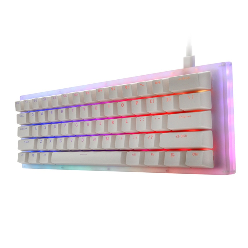 Gamakay K61 الساخن قابلة للتبديل 61 مفاتيح لوحة مفاتيح الألعاب الميكانيكية Tyce-C السلكية RGB الخلفية Gateron التبديل قاعدة بلوري