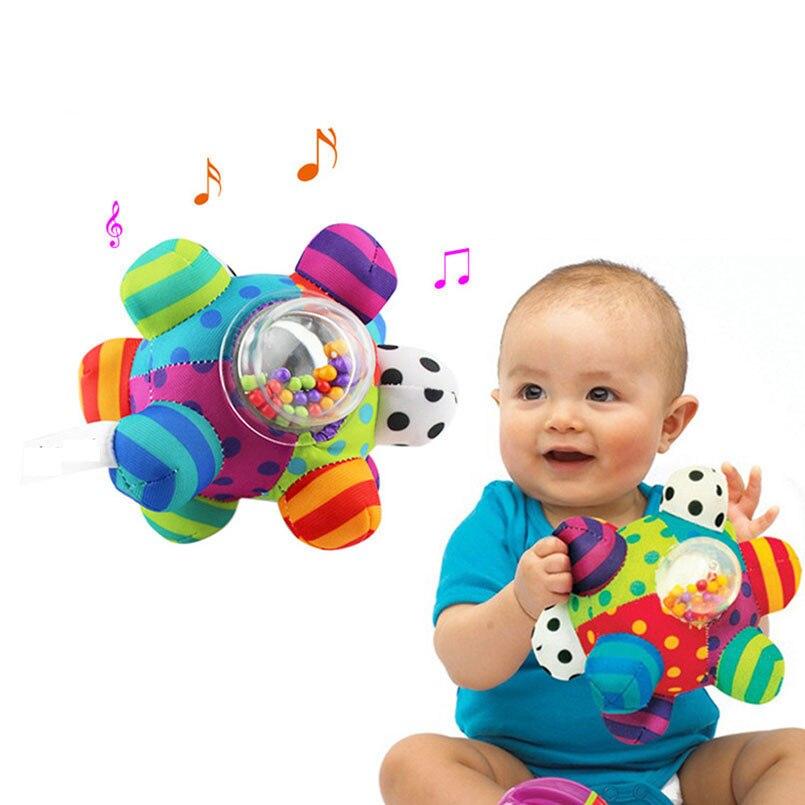 Pelota de juguete blanda para recién nacidos, juguetes para bebés de 0 a 12 meses, campana musical para cama de bebé, regalo educativo para niños