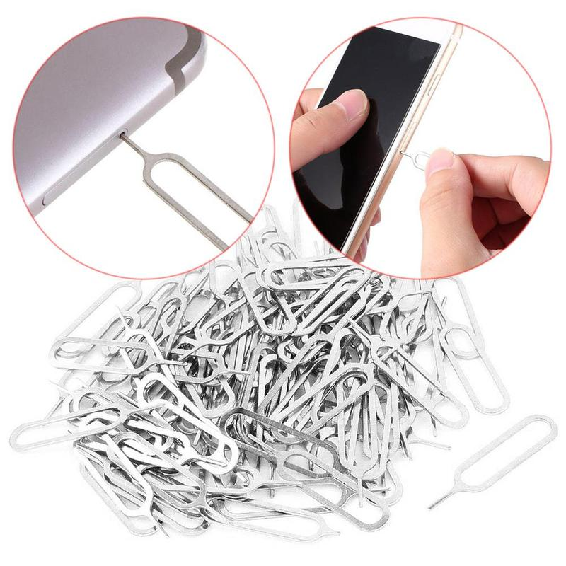 1pc Sim Remover Card Tray Eject Tool Pin Key Needle For Smarphone