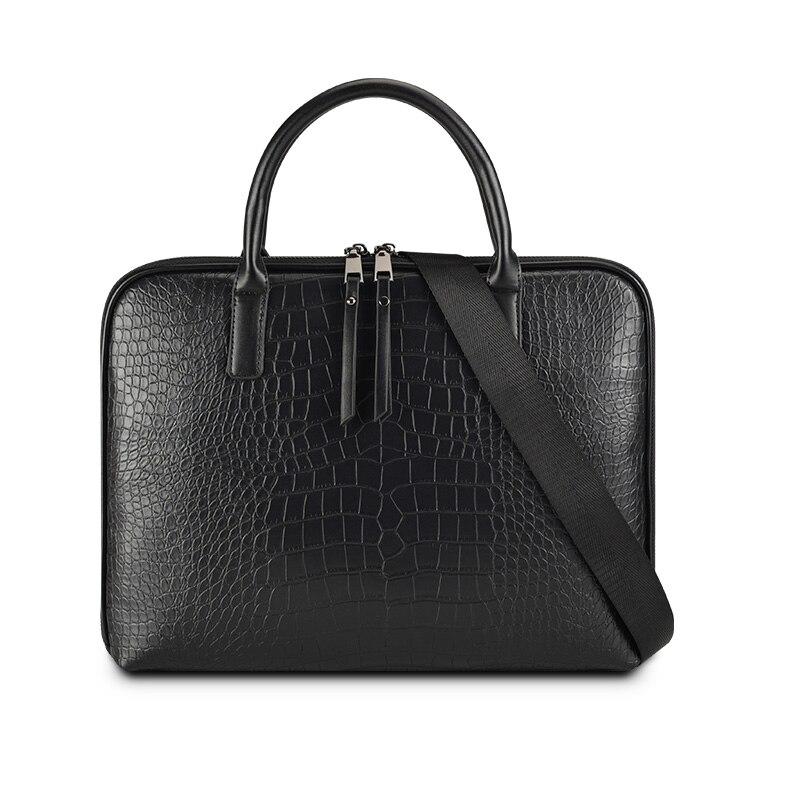 2019 de alta calidad de negocios maletín Unisex bolso de cuero bolsas 13,3 ordenador portátil de 14 pulgadas bolso Oficina bolsas maletín Unisex s
