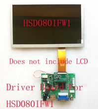 "Carpc 7 ""8"" Lcd Hoge Helderheid HSD070IFW1 HSD080IFW1 HSD090IFW1 Gewijd Driver Board Omkeren Prioriteit Hdmi Vga Av 1024*600"