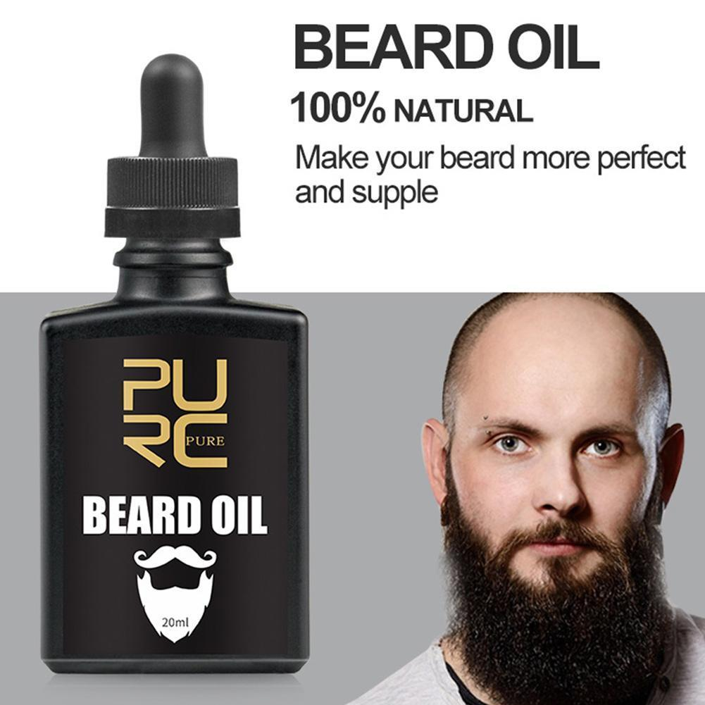 Pure Plant Men Beard Hair Growth Essence Oils Fast Growth Beard Growth Conditioner Leave-in Hair Bea