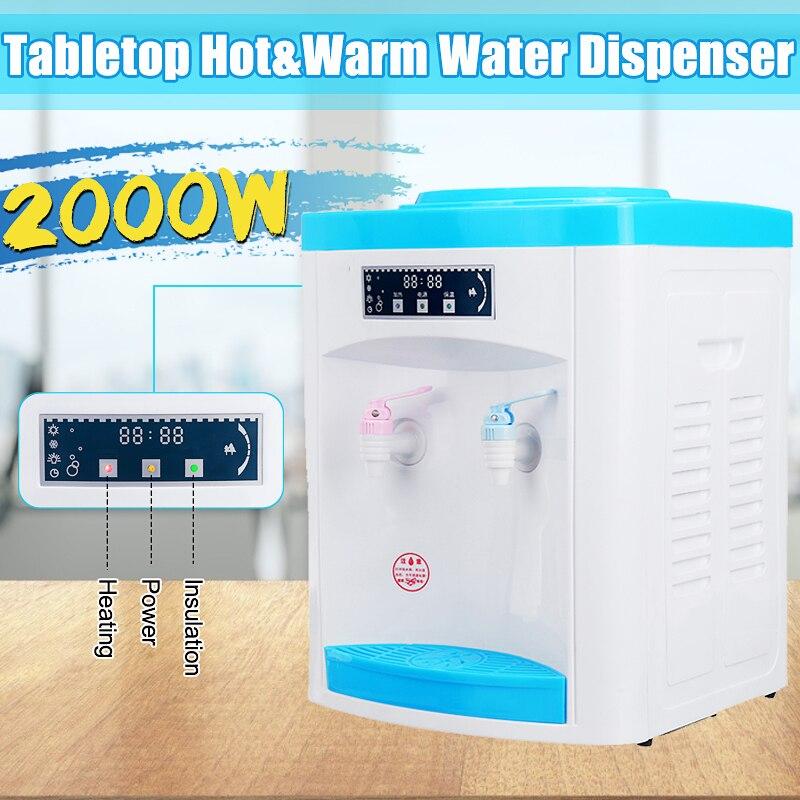 Dispensador de agua de escritorio pequeño hogar caliente y caliente de doble uso Mini calefacción de agua caliente máquina de dibujos animados de mesa