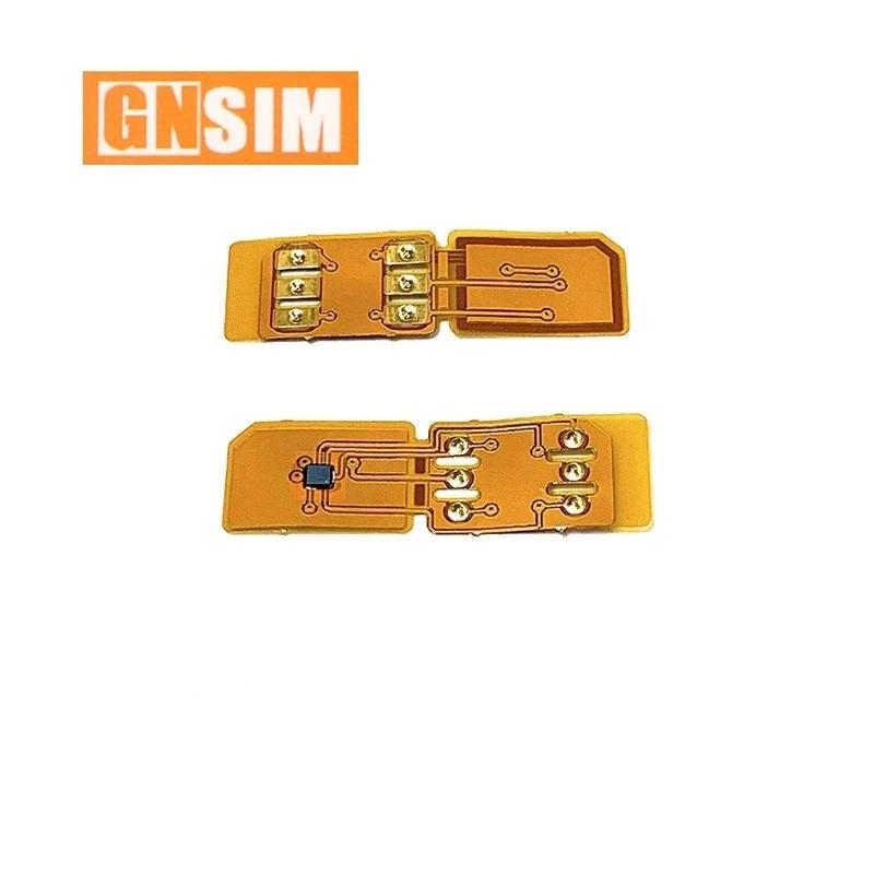 GN SIM إفتح رقاقة قابلة للطي ل IP XS XR 11 12 IOS 14.x دائم نوعية جيدة سيم فتح تحديث الكمال ICCID السيارات المنبثقة GNSIM