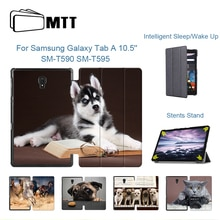 MTT Tablet Case For Samsung Galaxy Tab A 10.5 inch Cute Dog PU Leather Smart Cover for Samsung Tab A 10.5'' funda SM-T590 T595