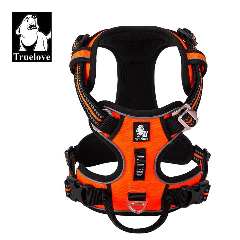 aliexpress - Truelove Pet Reflective Nylon Dog Harness No Pull Adjustable Medium Large Naughty Dog Vest Safety Vehicular Lead Walking Running