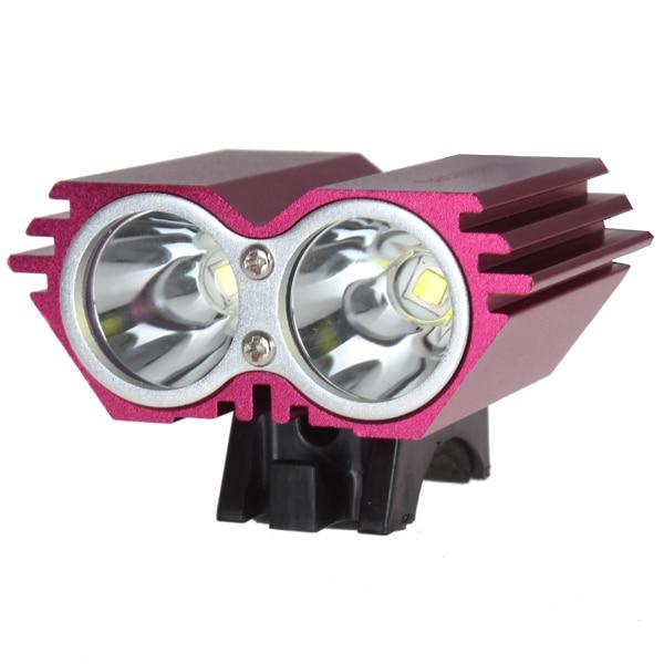SecurityIng Bicycle Headlights Red / Black  1200 Lumens 2x XM-L U2 LED  4000mAh Battery Pack Bicycle Light enlarge