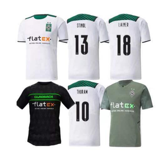 ¡Novedad de 2021-22! Camisetas de alta calidad Borussia Mönchengladbach de camiseta personalizada...