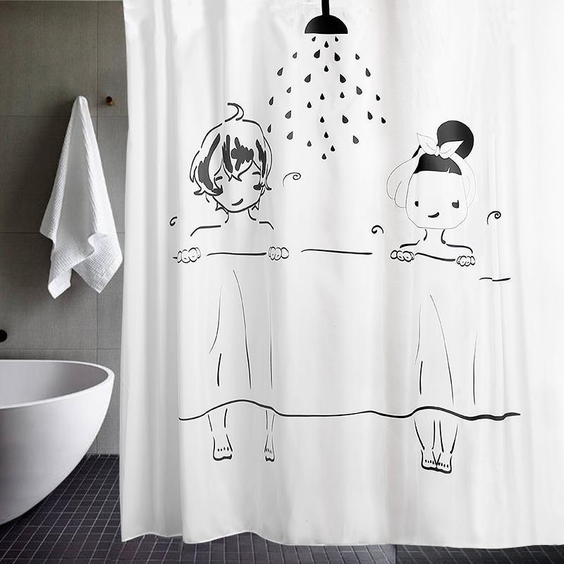 Gordijn Art Nouveau Bathroom Tenda Bagno Badezimmer Ducha Duschvorhang Rideau Douche Cortina De Banheiro Shower Curtain enlarge