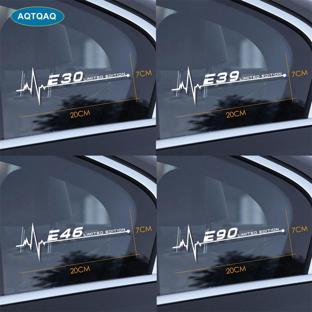 1 Uds para BMW E28 E30 E34 E36 E39 E46 E53 E60 E61 E62 E70 E87 E90 E91 E92 E93 del lado del coche ventana pegatinas etiqueta engomada del coche