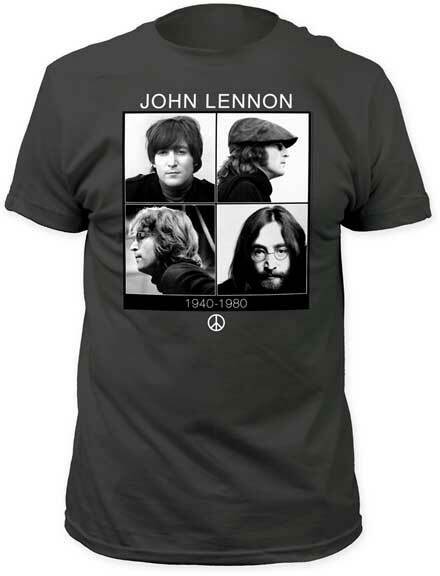John Lennon 1940-1980 4 fotos diferentes camiseta para adultos música Rock & Pop