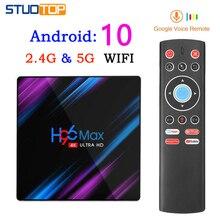 H96 MAX Smart Tv Box Android 10.0 mini Set Top Box 4K 3D 2gb 16gb Quad Core media player