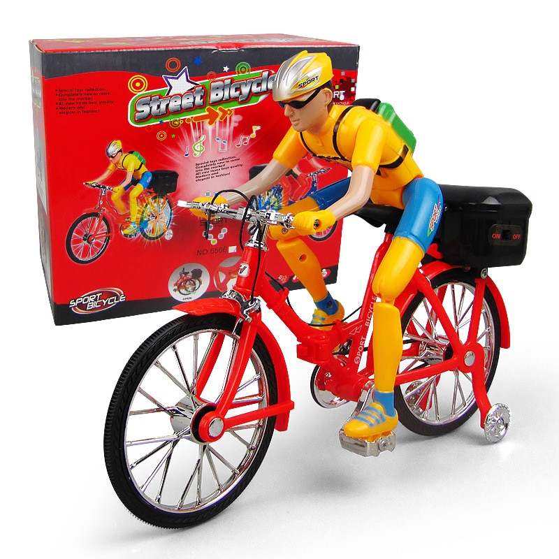 Электрические игрушки, велосипеды с электрическими персонажами, велосипеды для детей, музыка, светящийся литой игрушечный автомобиль, похо...