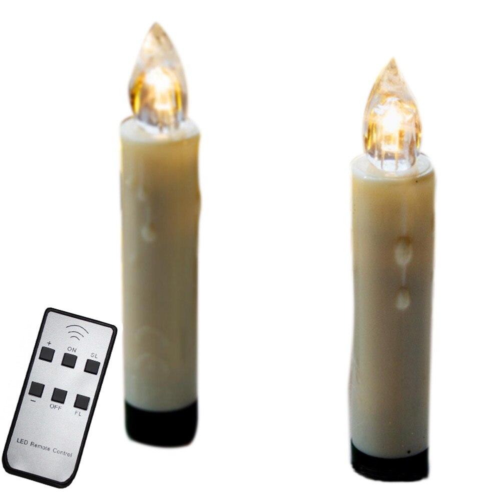 10/20/30pcs Wireless Christmas LED Candle Light Remote Control Xmas Tree Lighting Decor PI669