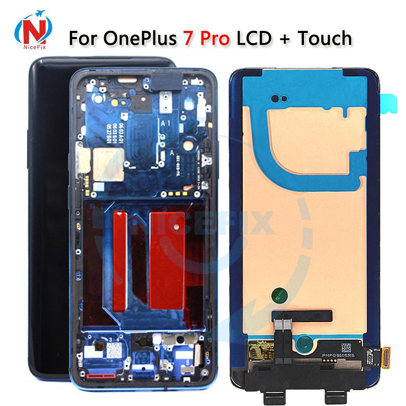 Lcd original para oneplus 7pro 7pro display lcd de tela toque digitador assembléia substituição para oneplus 7t pro 7tpro lcd