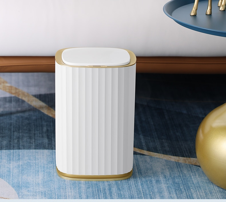 Large Capacity Trash Can Smart Living Room Creative Luxury Automatic Waste Bins Bathroom Cubo Basura Household Products DG50WB enlarge