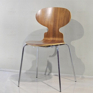 JOYLOVE Designer Chair Net Red INS Ant Chair Bank Negotiation Reception Stool Cafe Bookstore Curved Wooden Chair 2021