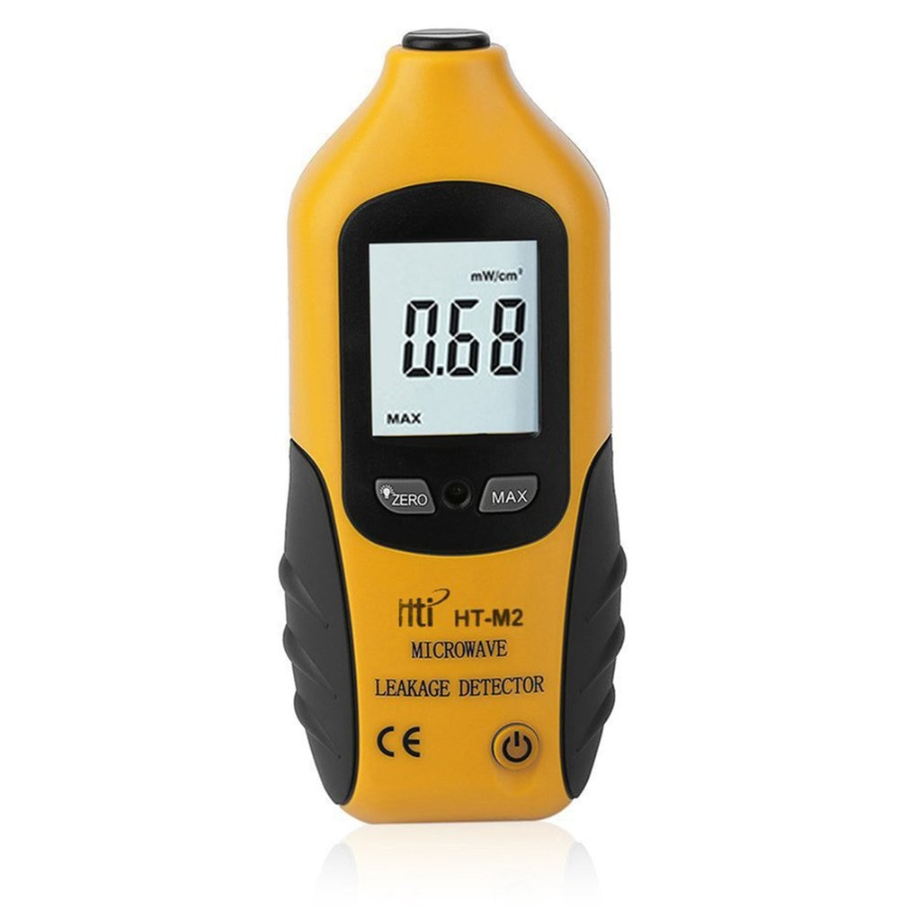 High Sensitivity Professional Digital Microwave Leakage Detector High Accuracy Radiation Meter LCD Display Tester 0-9.99mW/cm2 ht 20 professional high accuracy digital gauss meter magnetic machine with magnetic field indicator digital gauss meter