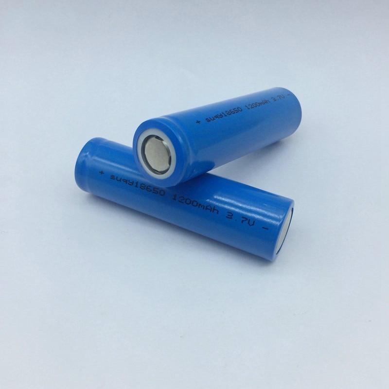 1/2/3/4/6/8/10 stücke 100% 3,7 v 1200mah Inr18650 Batterie 18650 wiederaufladbare Bateries Lithium-Ionen Akkus