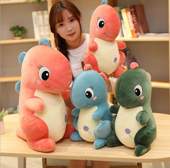 30-50cm cute 3 color creative simulation dragon plush toy soft cartoon dinosaur plush pillow doll baby soothing toy недорого