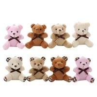 cute gift bear toy plush stuffed animal bear toy doll with keychain mini furry pendant accessory