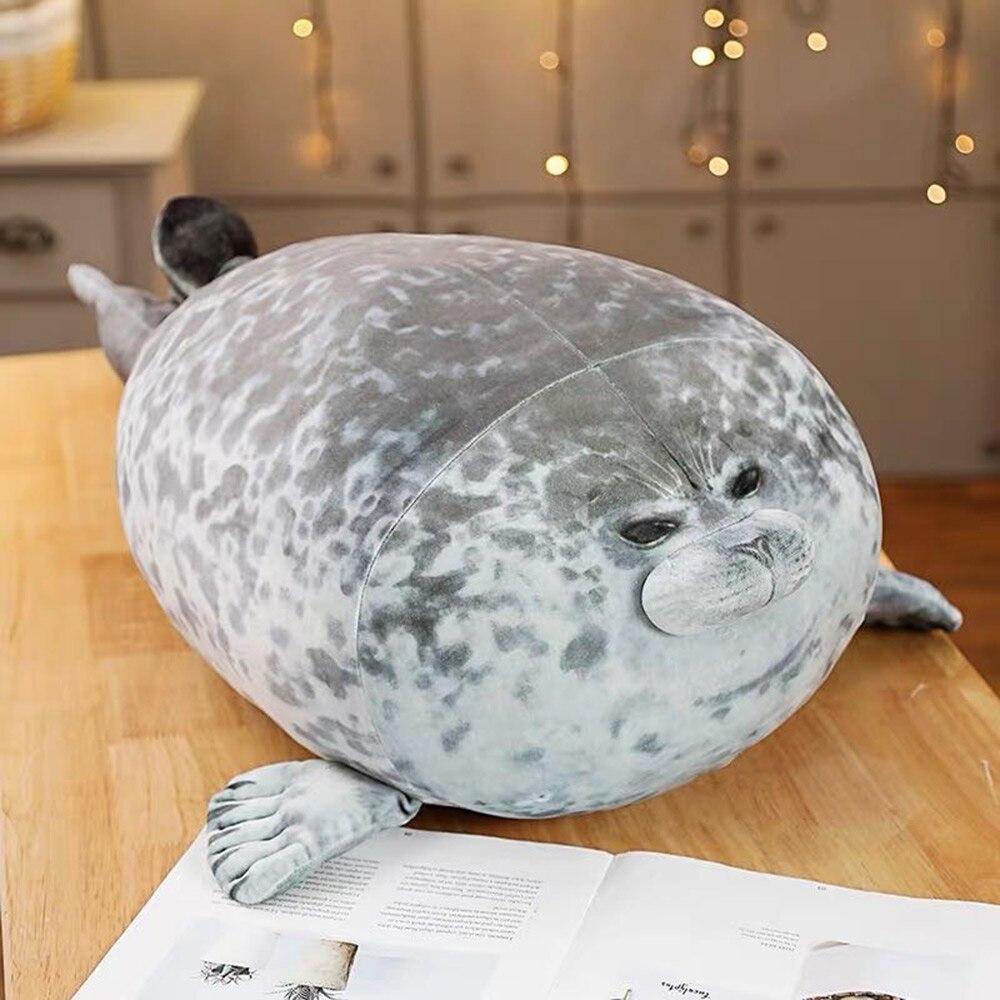 Подушка-тюлень Angry Blob, пухленькая 3D кукла с морским львом, плюшевая игрушка, Детская Спящая Подушка, подарки для девочек