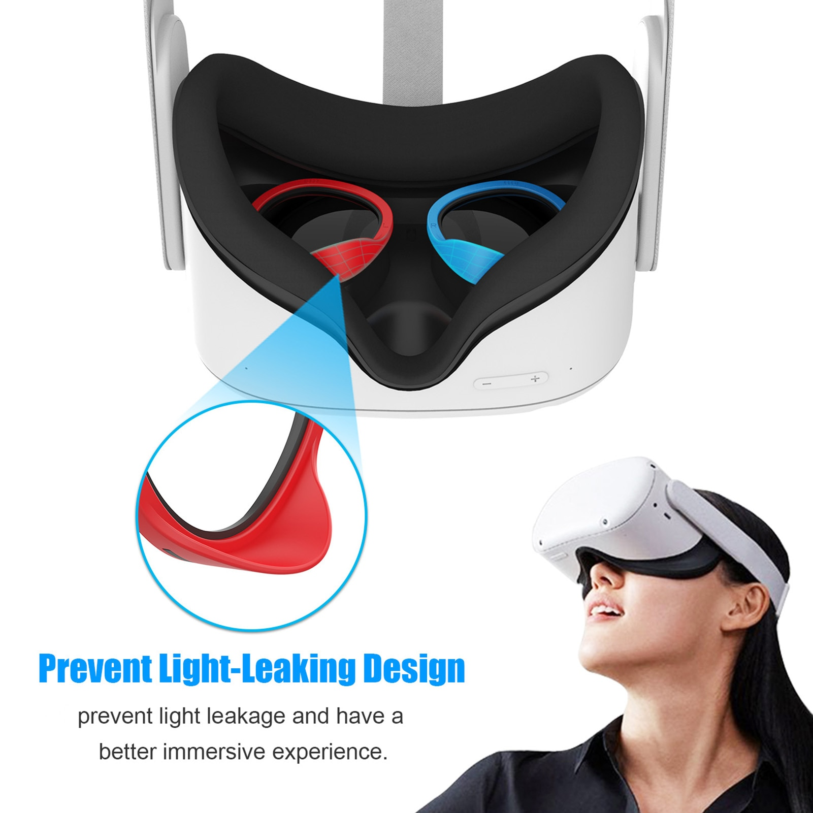 VR Frame Set Protective Case Cover Lens Ring Kit For Oculus Quest 1/2 For Oculus Rift S Video Game Consoles Games Accessories enlarge