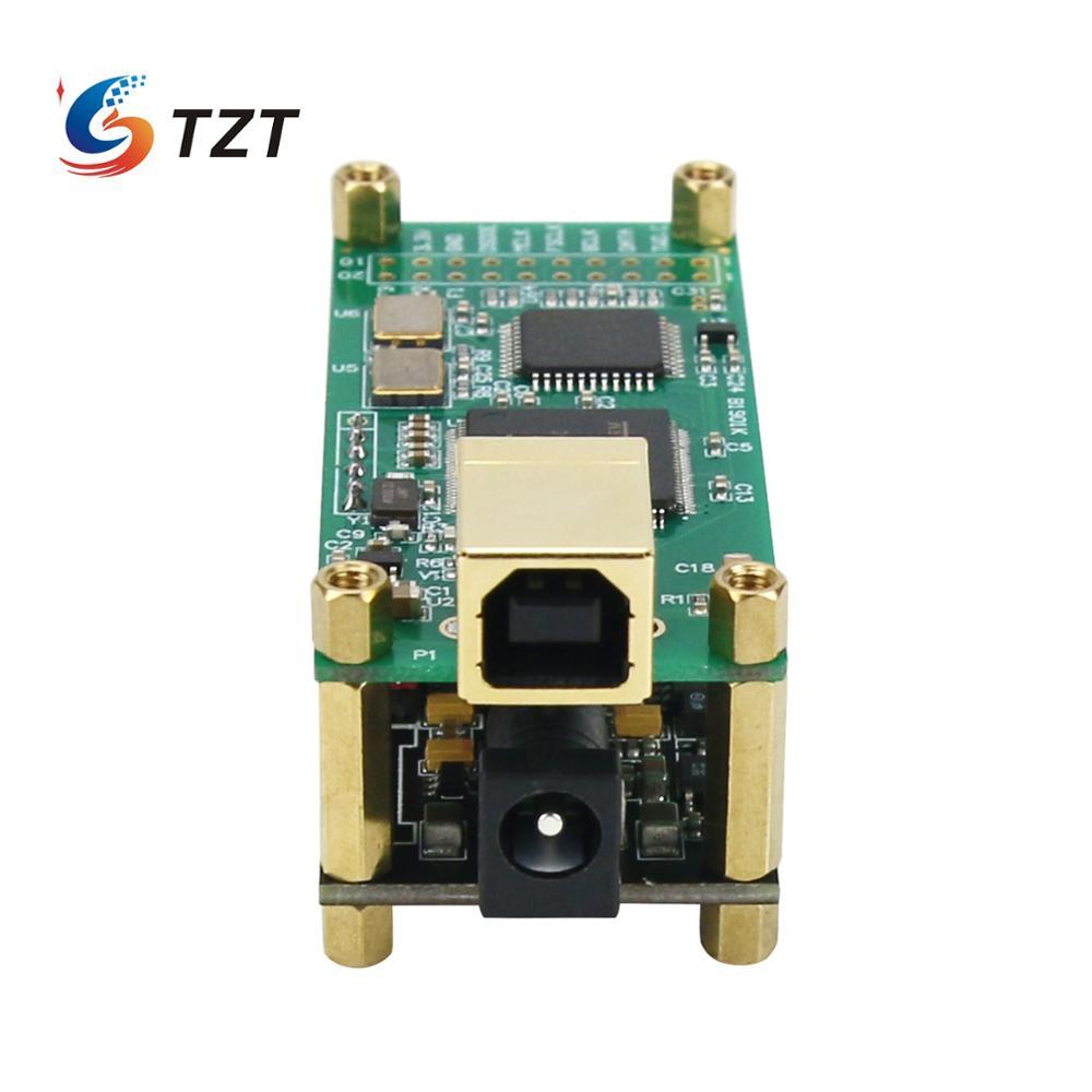 TZT ل Amanero واجهة ES9038Q2M محلل شفرة سمعي مجلس الصوت HiFi USB كارت الصوت دعم DSD256 PCM 384 كيلو هرتز