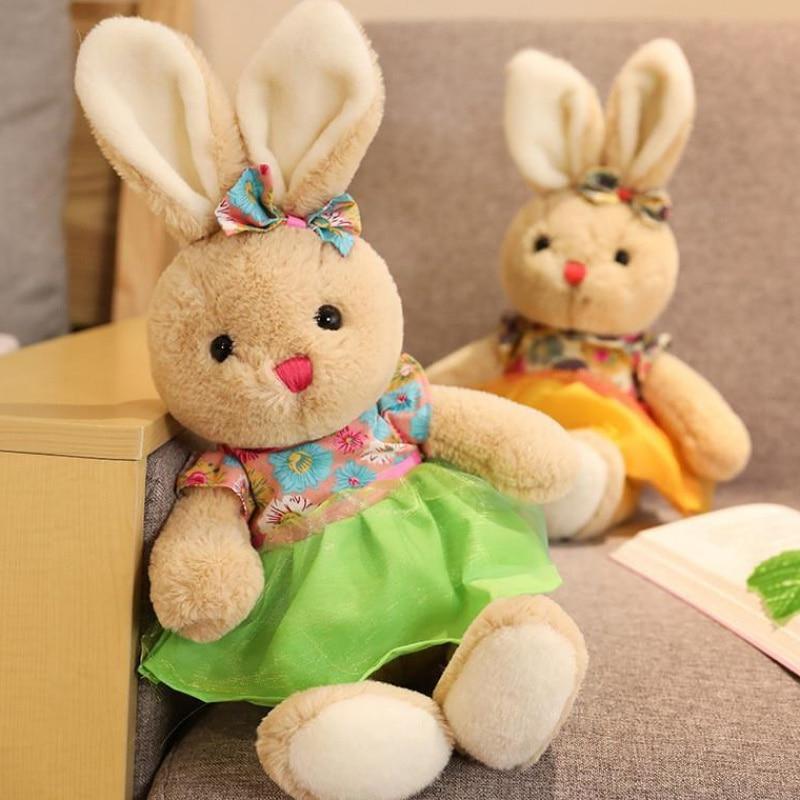 23cm Soft Cute Kawaii Plush Bunny Rabbit Plush Toy Bunnies Doll Toys Stuffed Cotton Animal Gift for