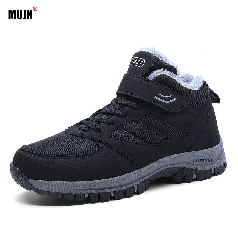 2021 Men's  Women's Casual Shoes Winter Solid Color High-top Plus Velvet Warm Non-slip Couple shoes
